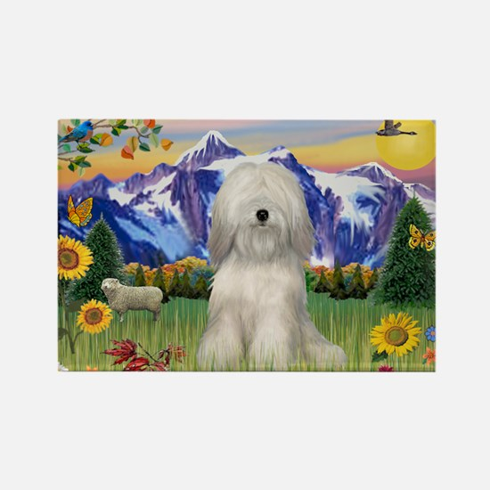 Tibetan Terrier #2 in Mt Coun Rectangle Magnet