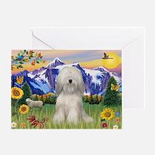 Tibetan Terrier #2 in Mt Coun Greeting Card