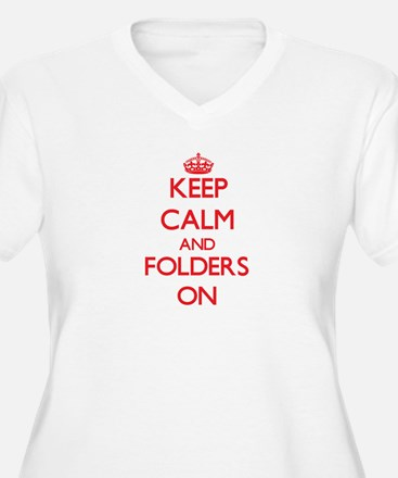 Keep Calm and Folders ON Plus Size T-Shirt