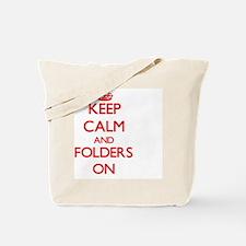 Keep Calm and Folders ON Tote Bag