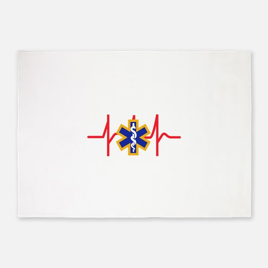 Star Of Life 5'x7'Area Rug