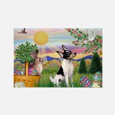 Toy Fox Terrier Easter Rectangle Magnet