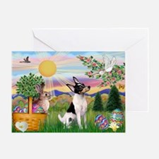 Toy Fox Terrier Easter Greeting Card