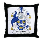 Wildman Family Crest Throw Pillow