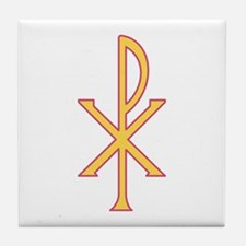 Christ Symbol Tile Coaster