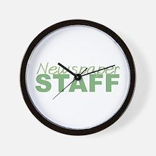 Newspaper Staff Wall Clock