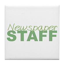 Newspaper Staff Tile Coaster