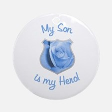Son Police Hero Ornament (Round)