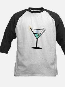 Martini Glass 3 Kids Baseball Jersey