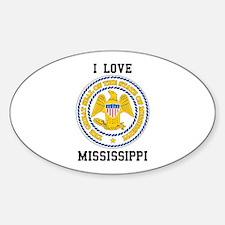 I Love Mississippi Decal