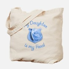 Daughter Police Hero Tote Bag