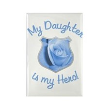Daughter Police Hero Rectangle Magnet
