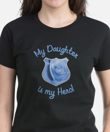 Daughter Police Hero Women's Dark T-Shirt