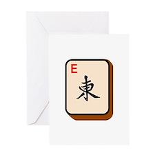 Mahjong East Greeting Cards