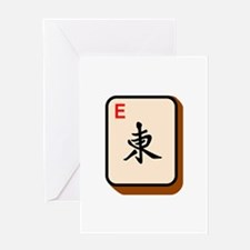 Mahjong East Greeting Cards