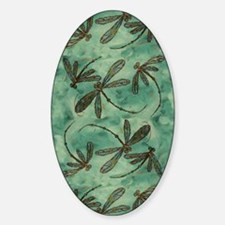Dragonfly Flit Myrtle Green Decal