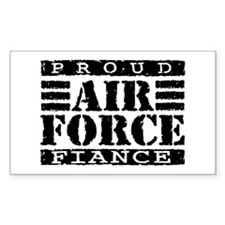 Proud Air Force Fiance Rectangle Decal