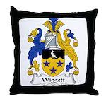 Wiggett Family Crest Throw Pillow