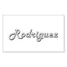 Rodriguez surname classic design Decal