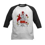 Wicks Family Crest Kids Baseball Jersey