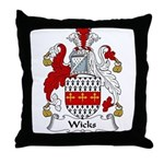 Wicks Family Crest Throw Pillow