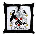 Wickham Family Crest Throw Pillow