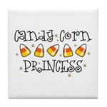 Candy Corn Princess Tile Coaster