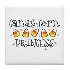 Candy Corn Princess Tile Coaster