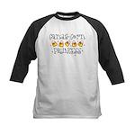 Candy Corn Princess Kids Baseball Jersey