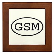 GSM Oval Framed Tile