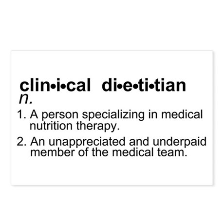 Clinical Dietitian Postcards (Package of 8)