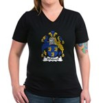 Whitwell Family Crest Women's V-Neck Dark T-Shirt