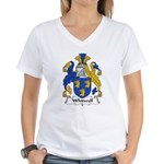 Whitwell Family Crest Women's V-Neck T-Shirt