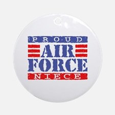 Proud Air Force Niece Ornament (Round)