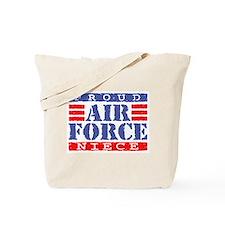 Proud Air Force Niece Tote Bag