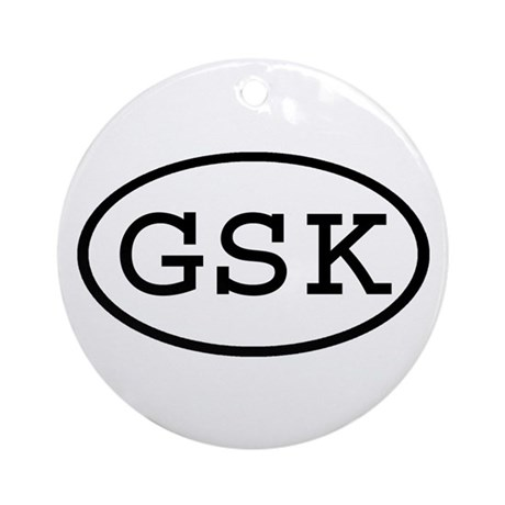 GSK Oval Ornament (Round)