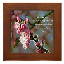 Poem from Rumi Framed Tile