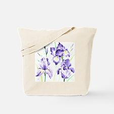 Watercolor Abstract Iris Pattern Tote Bag