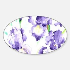 Watercolor Abstract Iris Pattern Decal