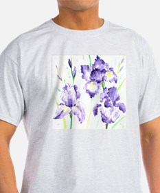 Watercolor Abstract Iris Pattern T-Shirt