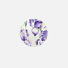Watercolor Abstract Iris Pattern Mini Button