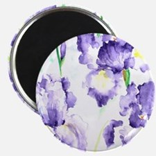 Watercolor Abstract Iris Pattern Magnet