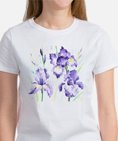 Watercolor Abstract Iris Pattern Women's T-Shirt