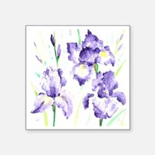 "Watercolor Abstract Iris Pa Square Sticker 3"" x 3"""