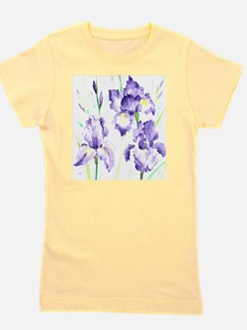 Watercolor Abstract Iris Pattern Girl's Tee