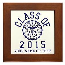 Class of 2015 LPN Framed Tile