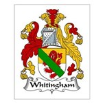 Whitingham Family Crest Small Poster