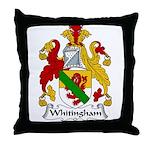 Whitingham Family Crest Throw Pillow