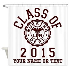 Class Of 2015 Lpn Shower Curtain