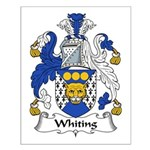 Whiting Family Crest Small Poster